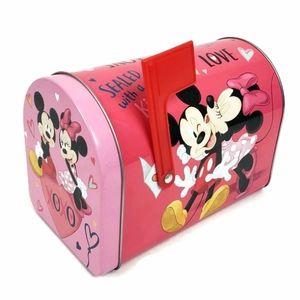 Disney Small Tin Mickey Minnie Valentine Mailbox
